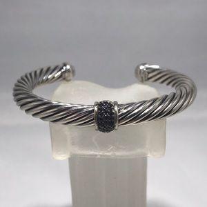 David Yurman 7mm Pave Black Diamond Bracelet